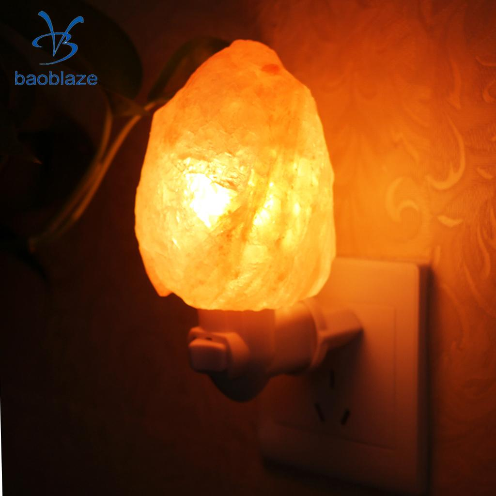 Bedside Wall Lamp Night Light Natural Himalayan Salt Lamp Air Purifier Home Wall Decoration UK Plug oygroup mini hand carved natural crystal himalayan salt lamp night light cylinder shaped illumilite lamp salt light oy17nl02