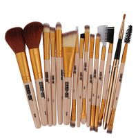 15 Pcs Professional Nylon Fibre Makeup Brushes Set Kit Foundation Brush Tool G18
