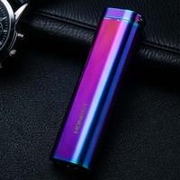 1 pz/lotto Onesto Genuino filo di tungsteno accendino ricarica USB con luci A LED in metallo multi-funzionale accendisigari personalizzato