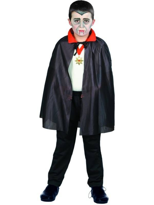 Halloween witches collar black and red cape cloak vampire cape worn on both sides of the single cloak