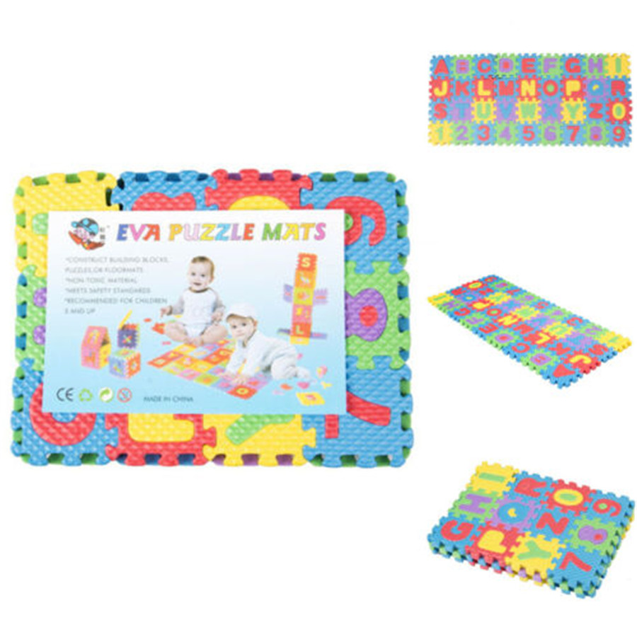 Hot Sale New 36Pcs Baby Game Pad Number Alphabet Puzzle Foam Floor Play Mats Toy For Children Kids Maths Educational Toy Gift