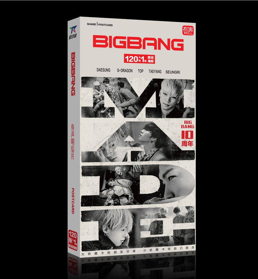 <font><b>Kpop</b></font> 2018 new star category <font><b>BigBang</b></font> the same 120 postcards + <font><b>posters</b></font> + Stickers + card k-pop <font><b>BigBang</b></font> MADE Albums photo photocard image