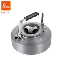 Ультралегкий чайник Fire Maple для кемпинга, кемпинга, кофе, чая, кемпинга, походов, алюминиевый сплав, 0.8л, с термостойкой ручкой, чайная FMC T1