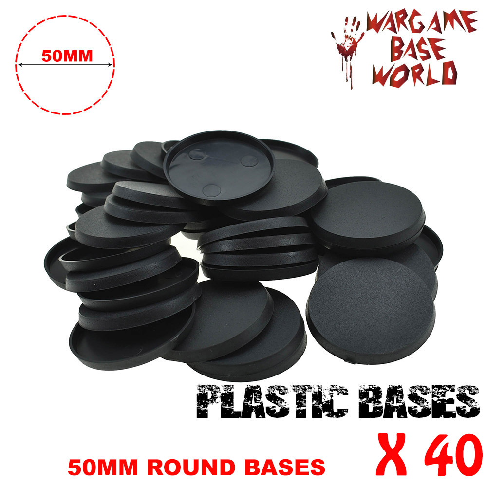 Round Bases For Gaming Miniatures And Wargame Bases 40 X 50mm Bases