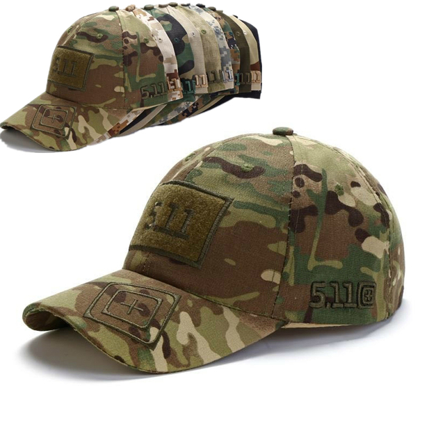 66d1f67bbd7 Army Camouflage Baseball Cap 511 tactical cap men women adjustable outdoor  sports Training Snapback trucket dad
