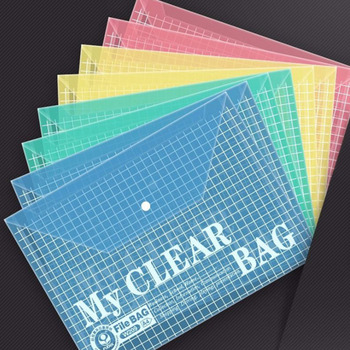 Five File Bags With Thickened A4 Transparent Document Bags