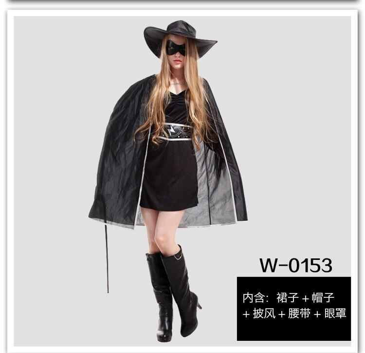 Halloween Party Kleid Erwachsene Zorro Cosplay Kostüm Frau und Mann ...