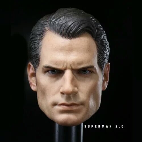 1/6 Superman Henry Cavill 2.0 Head Sculpt For 12 Male Action Figure Body Toys Gifts Brinquedos brand new 1 6 scale head sculpt man of steel superman clark kent henry cavill head sculpt for 12 action figure model toy
