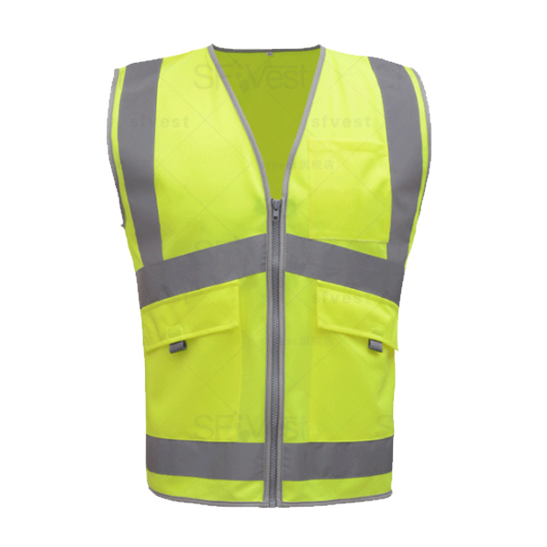 SFvest New Arrival  safety workwear yellow safety reflective vest mesh reflective vest breathable logo printing free shipping