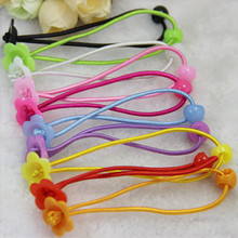 DIY Unfinished Candy multi colors hair bands for girls rubber bands with cups sticked on cute