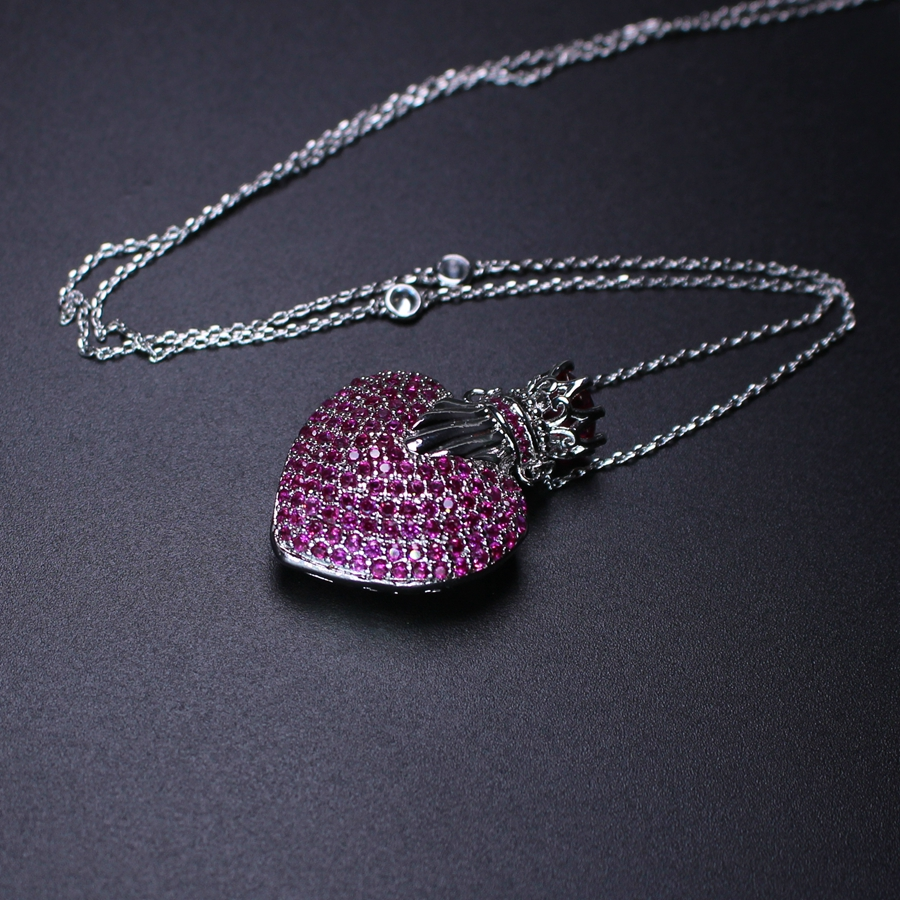 Heart Necklace for Women full cubic zirconia Heart Shape Pendant Necklace Gift Ethnic Bohemian Choker Necklace PGY027 цена 2017