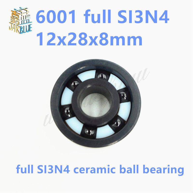 Free shipping 6001 full SI3N4 ceramic deep groove ball bearing 12x28x8mm full complement 6901 2rs full si3n4 ceramic deep groove ball bearing 12x24x6mm 6901 2rs