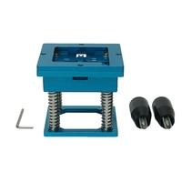 90mm x 90mm BGA Reballing Station with handle Stencils Holder Template Fixture Jig for bga chip repair