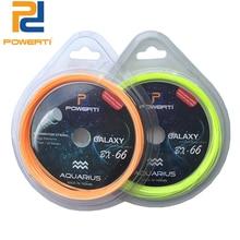 Купить с кэшбэком POWERTI 2pcs/lot 0.66mm Badminton Racket String Constellation 10m Training Racket String like BG65 24lbs-30lbs Good Quality
