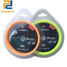 POWERTI 2 stks / partij 0.66mm Badmintonracket String Constellation 10 m Training Racquet String BG65 Badminton String 24lbs-30lbs