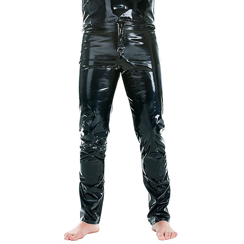 ZOGAA Hot New Sexy Men Skinny Faux PU Leather Pants Shiny Trousers Nightclub Stage Performance Singers Dancer Jeans Plus Size in Leather Pants from Men 39 s Clothing