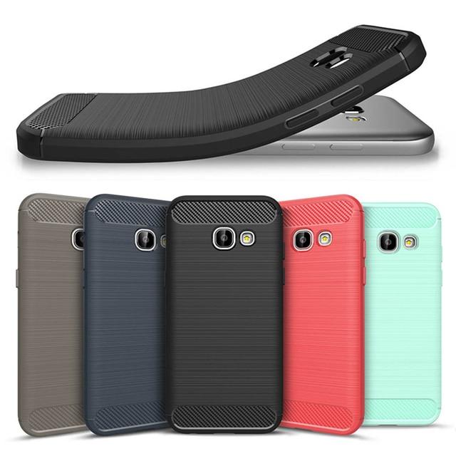 Carbon Fiber Case For Samsung Galaxy A50 A40 A10S A10e A20S A30 A70 C5 C7 Pro J3 J5 J7 2017 A6S Plus J8 A8 A9 2018 A90 5G Cases