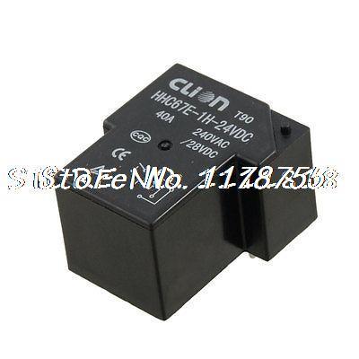 DC 24V Coil SPST 4 Pin 40A Mini Power Relays PCB Type HHC67E-1H(T90) 100 pcs dc12v shg coil dpdt 8 pin 2no 2nc mini power relays pcb type hk19f yellow