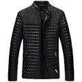 2017 la primavera de invierno para hombre chaquetas de cuero y abrigos, jaqueta de couro masculina de los hombres del motorista chaqueta de cuero abrigos y chaqueta hombres 98hfx