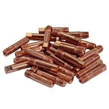 20 штук CO2 mig контактный советы 0,8x25mm для MB15 15AK Сварка порошковыми проволоками расходные материалы для сварочной горелки аксессуары