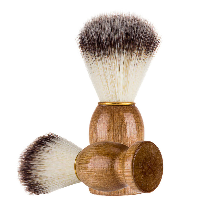 Maquillaje 1pc Men Shaving Bear Brush Best Badger Hair Shave Wood Handle Razor Barber Tool SE07