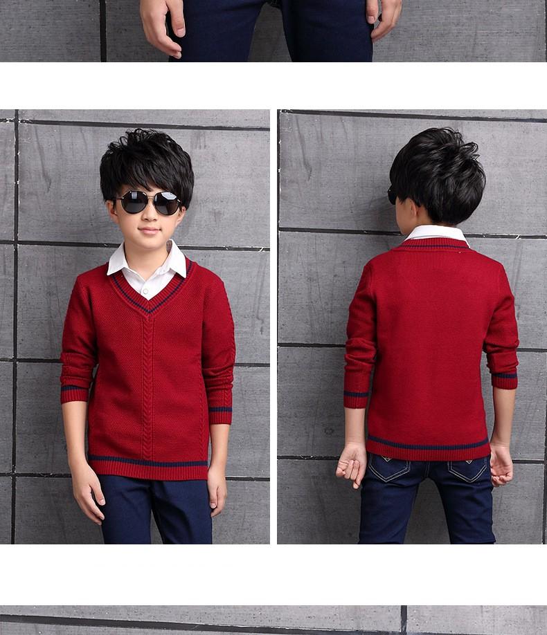 HTB1OXzJOXXXXXXcXVXXq6xXFXXXn - 2017 Children's sweater Winter new  Keep warm Cashmere boy sweater V-collar Kids for boys Children's clothing Winter clothing
