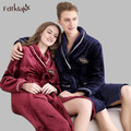 2016 New Winter Nightgown Robe Long Sleeve Housecoat Dressing Gowns For Women Home Warm Flannel Bathrobe Couples Bathrobes E0470