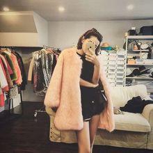 New Style High-end Fashion Women Faux Fur Coat 17S2