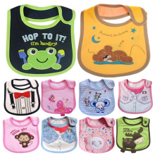 Baby Bibs Burp Cloths Babador Cotton Cartoon Animal Waterproof Kids Girl and Boy Cute Feeding Slobber Towel Bavoir Slabbetjes