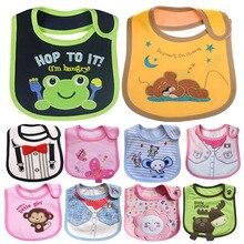 Baby bibs Bandana Bibs Burp Cloths baberos Cotton Small Bib babador bebes Animal Shaped Waterproof Slobber Towel