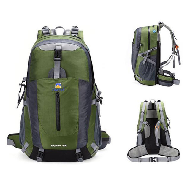Unisex Men / Women 40L Outdoor Hiking Waterproof Travel Luggage Backpack New Mint With Suspension System