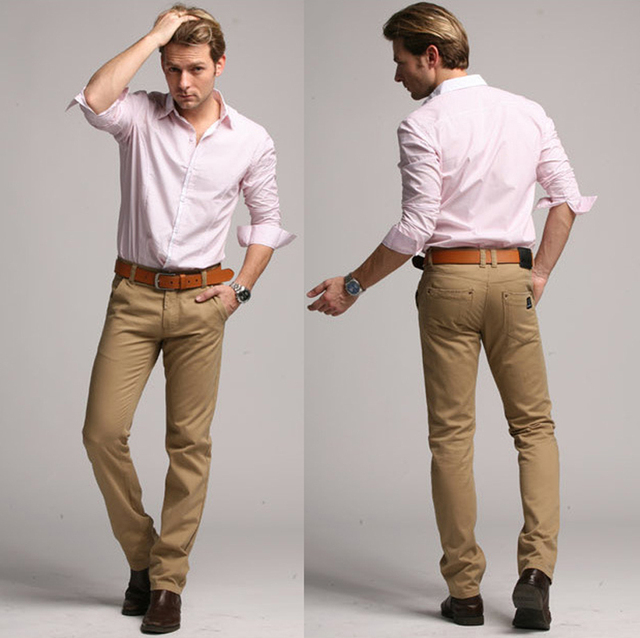 812193ae9b2 Fashion 2015 New High Quality Casual Mens Pants Men Green khaki black  Business Design Cotton Trousers Factory Wholesale 15D30