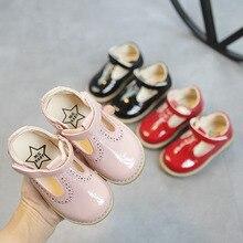 Детская одежда для детей ясельного возраста, для маленьких девочек на лето и весну Лакированная Кожа Босоножки Туфли для принцессы для девочек английское платье обувь