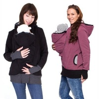 Fashion stijl lange mouwen moeder herfst winter vrouwen hoddies carry baby baby sweatshirt rits jas moederschap warme kleding