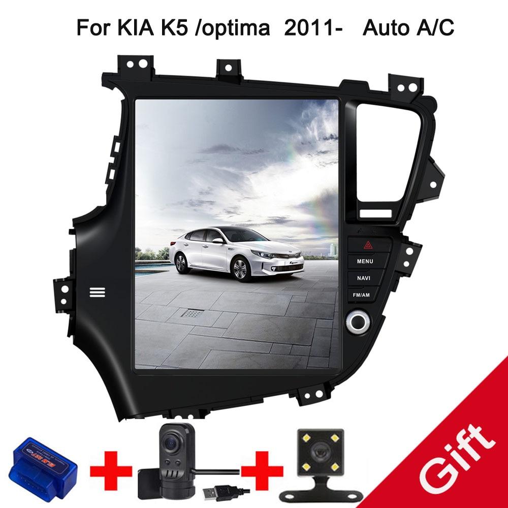 12.9 Tesla Type Android 7.1/6.0 Fit KIA K5/optima 2011 2012 2013 2014 2015 Manual/Auto A/C Car DVD Player Navigation GPS Radio