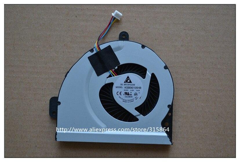 Nuevo ventilador portátil para ASUS A43 X53S K53S A53S K53SJ P53SJ K43X K43E K43S X43 K43SJ A83 A84S X84C K84L x84H KSB06105HB 10mm/13mm
