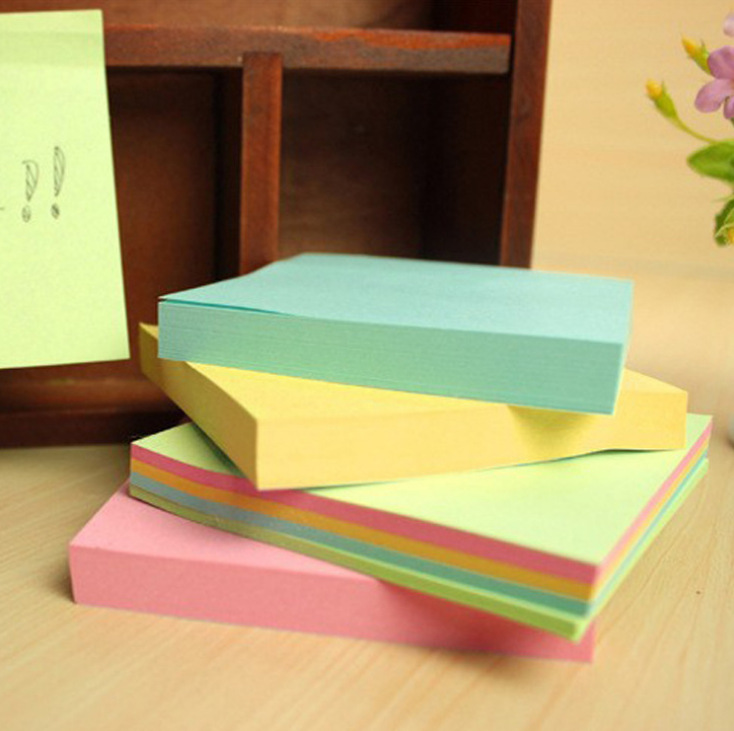QSHOIC 50pcs/lot factory sales wholesale notepad self adhesive pad sticky paper brick square posts record wholesale Memo Pad