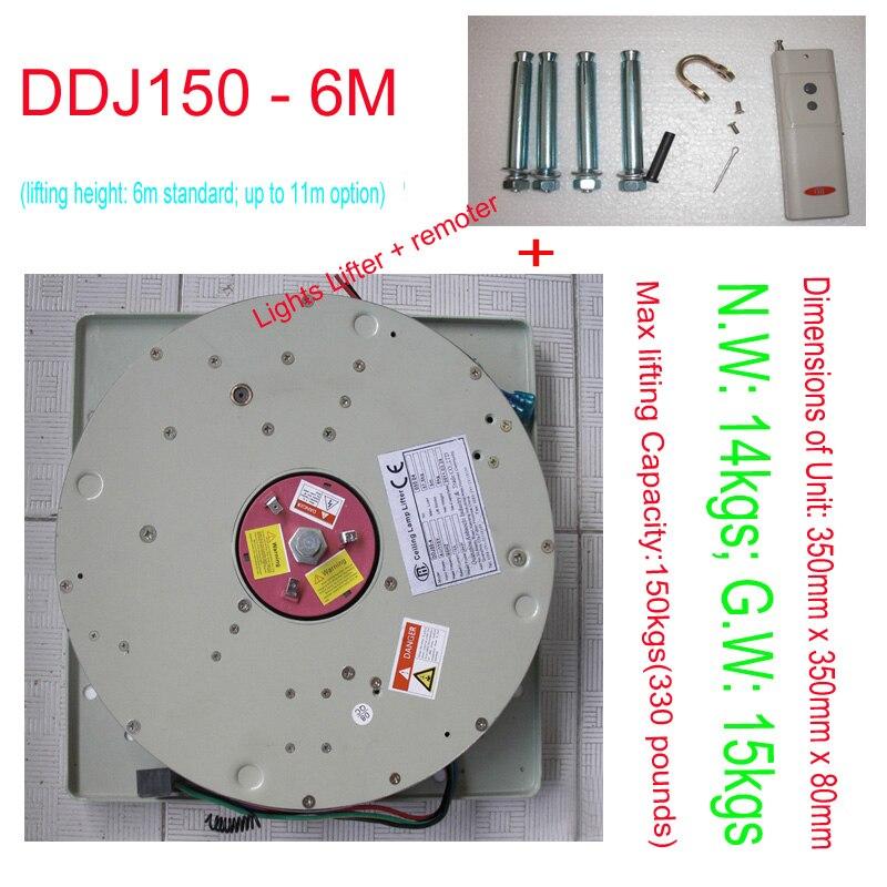 150KG 6M Electric Winch for Chandelier Lighting Lifter Hoist Lamp Motor Light Lifting System,110V,120V,220V,230V,240V