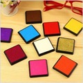 15 pcs/lot 15 colors DIY cute Ink pad rubber stamp inkpad for decoration album scrapbooking tools 4x4cm