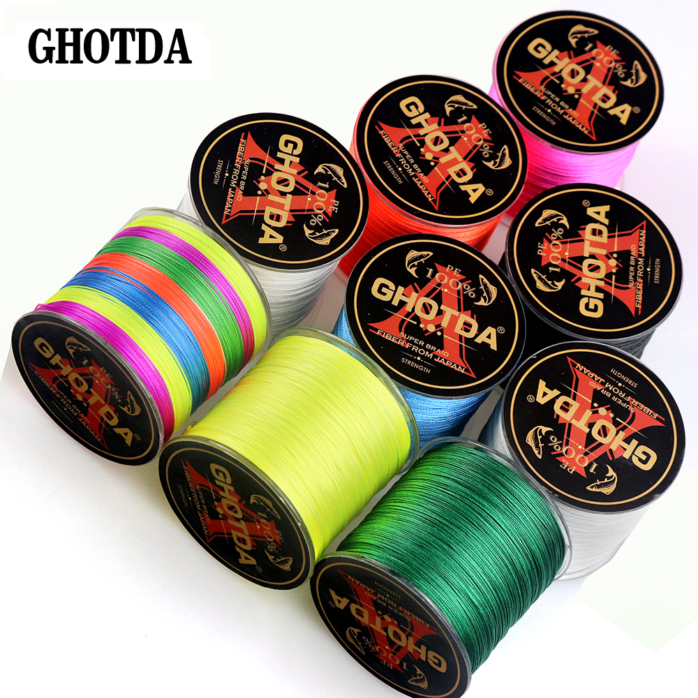 500m 8 Strands Braided Fishing Line Smooth Multifilament PE Braided Cord 22LB - 119LB Strong Japan peche