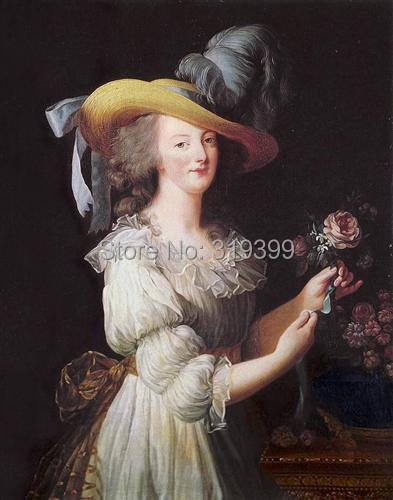 Oil Painting reproduction on linen canvas,marie-antoinette-in-a-muslin-dress-1783 by Louise Elisabeth Vigee Le Brum,100%handmadeOil Painting reproduction on linen canvas,marie-antoinette-in-a-muslin-dress-1783 by Louise Elisabeth Vigee Le Brum,100%handmade