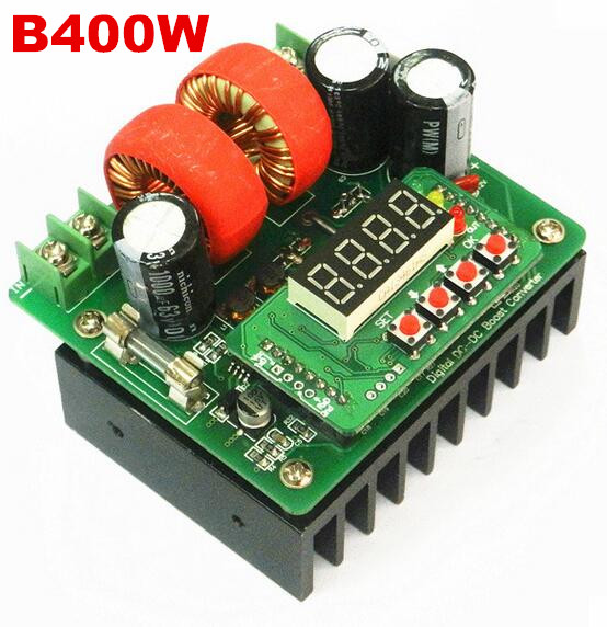 B400W controlled DC  Boost Module power supply constant digital voltage and current meter 80V10A high power precise regulation