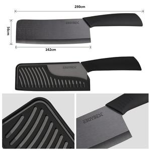 Image 4 - Yüksek kaliteli zirkonya seramik bıçaklar aşçı 6.5 inç beyaz/siyah bıçak renkli kolu şef bıçağı mutfak pişirme araçları için