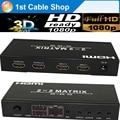 HDMI matrix 2X2 HDMI Switcher splitter with remote control 3D&full HD1080p supported