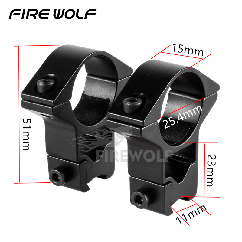 Fire Wole 2pcs Designer Optical Sight Bracket Scope Mount Rings 11mm Rail Outdoor Camping Pc Screw Alley Key Ak 47 Hunting