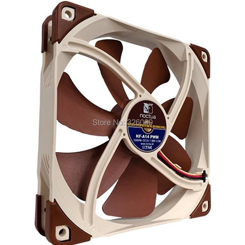 все цены на Brand new original, Noctua NF-A14 PWM fan, 14cm, 19.2dBA, 4pin fan, SSO2 Bearing онлайн