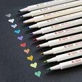 STA 6551 10 видов цветов Ручка металлического цвета маркер на водной основе DIY альбом Рисование черная бумага стекло художественные принадлежно...