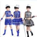 Boy or Girl Modern Dance Clothing Street Dance Performance Clothing Sequins Jazz Dance Costumes DJ Dance Clothing