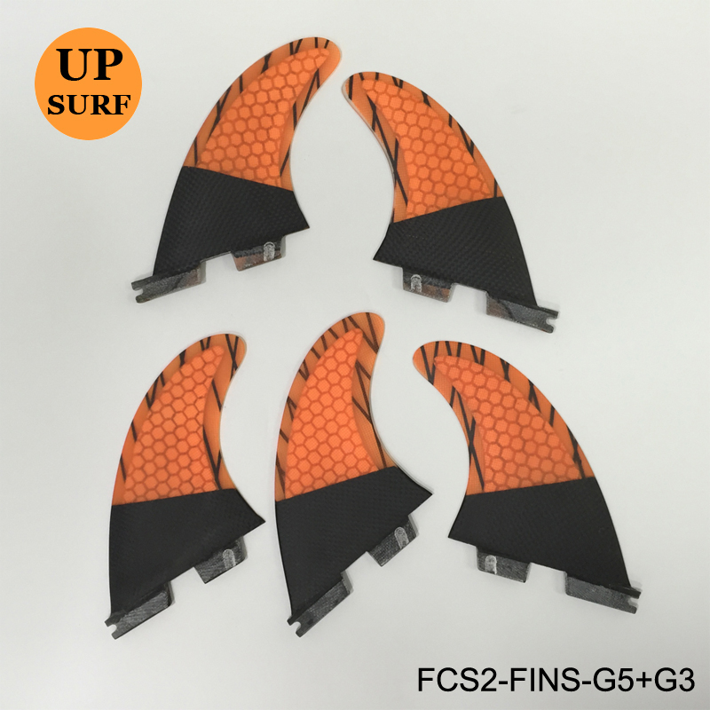 Hot Sale Surfing FCS II G7+G3 and G5+G3 Tri-Quad Set Fin Honeycomb Carbon Fiber Surfboard Fin suicide squad vol 5 apokolips now