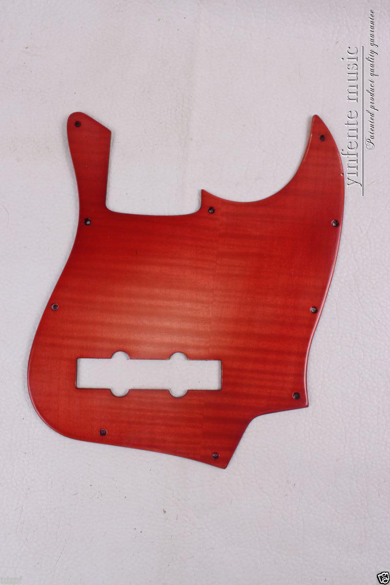 Guitare basse électrique pickguard érable bois Jazz basse Jbass guitare rouge #1830